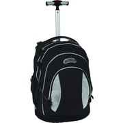J World Sweet Kid's Ergonomic Rolling Backpack; Black