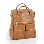 Aston Leather Top Zippered Backpack; Brown