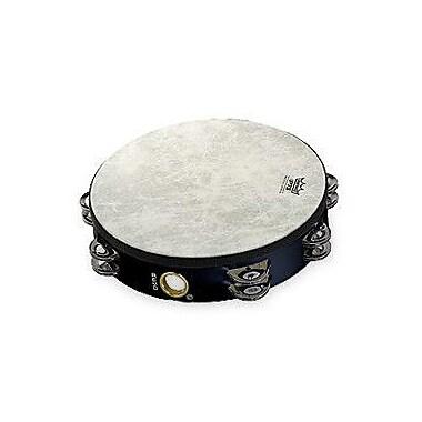 Remo Fiberskyn 3 Single Row Jingles Pretuned Tambourine; 10''