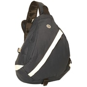 Everest Sporty Sling Backpack; Dark Gray / Beige