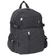 Everest Cotton Canvas Backpack; Black