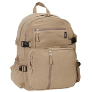 Everest Cotton Canvas Backpack; Khaki