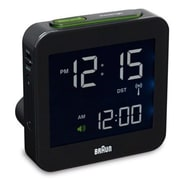 Braun Digital LCD Clock; Black