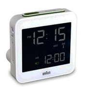 Braun Digital LCD Clock; White