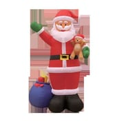 BZB Goods Christmas Inflatable Santa and Gift Bag Decoration
