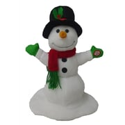 BZB Goods Singing Spinning Snowman Musical Plush Toy with Motion