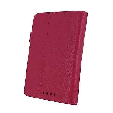 rooCASE Multi-Angle Vegan Leather Folio Case Cover for Nexus 7; Magenta