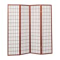 Hazelwood Home 70'' x 70'' Sonji Screen 4 Panel Room Divider; Cherry