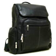 Le Donne Leather Vacquetta Computer Backpack; Black