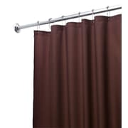 InterDesign Waterproof Shower Curtain Liner; Chocolate