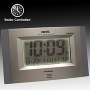 Datexx Radio Control Wall Clock with LCD Calendar, Temperature