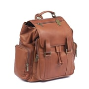 Claire Chase Uptown Jumbo Backpack; Saddle