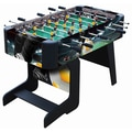 Playcraft Sport Foosball Table with Folding Leg; Black