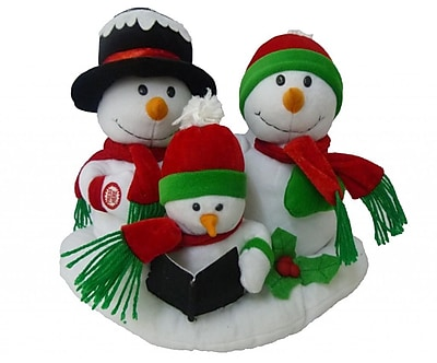 BZB Goods Singing Snowman Family Trio Musical