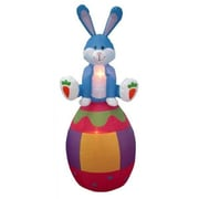 BZB Goods Easter Inflatable Rabbit Sitting on an Egg Decoration