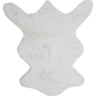 Chandra Bear White Area Rug; 5' x 7'6''