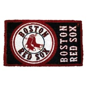 Team Sports America MLB Welcome Bleached Doormat; Boston Red Sox
