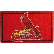 Team Sports America MLB Welcome Bleached Doormat; St Louis Cardinals