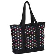 Everest Fashionable Polka Dot Shopper Tote Bag