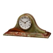 Designs By Marble Crafters Saturn Clock; Whirl Green Onyx