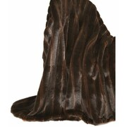 Ital Art Design Fancy Furs Two Tone  Throw
