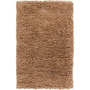 Chandra Paper Shag Tan Area Rug; 3'6'' x 5'6''