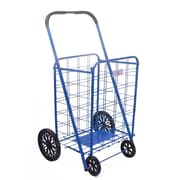 Trimmer 42'' Shopping Cart with Rounded Handle; Blue