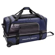Pacific Gear 30'' Drop-Bottom Rolling Duffel Bag; Blue