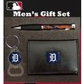 Team Sports America MLB PU Tri-fold Wallet Pen and Keychain Gift Set; Detroit Tigers