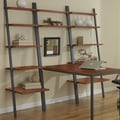 Jesper Office Jesper Office Parson Ladder Bookcases with Peninsula Desk; Cherry