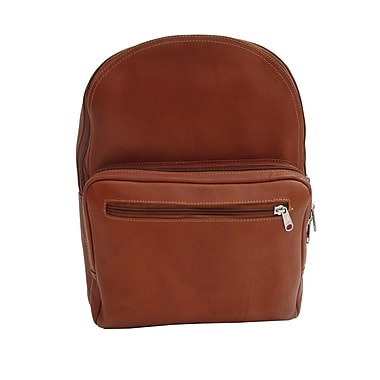 Piel Traditional Leather Backpack; Saddle