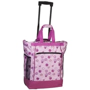 Everest Polka Dot Rolling Shopping Tote; Light Purple/Dark Purple