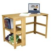 Regency Flip-Flop Writing Desk and Bookcase; Medium Oak
