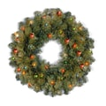 National Tree Co. Kincaid Spruce Wreath; Multi-Colored Lights