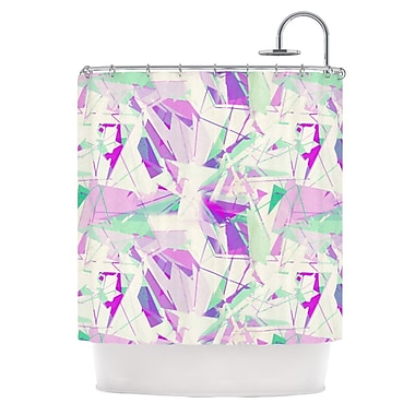 KESS InHouse Shatter Shower Curtain; Purple