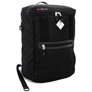 J World Rectan Laptop Backpack; Black