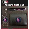 Team Sports America MLB PU Tri-fold Wallet Pen and Keychain Gift Set; St Louis Cardinals