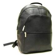 Le Donne Leather Laptop Backpack; Black