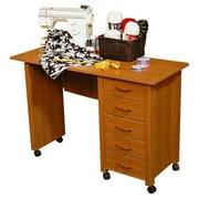 Venture Horizon VHZ Office 43'' W Mobile Craft Computer Desk; Oak