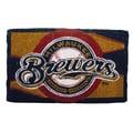 Team Sports America MLB Welcome Bleached Mat; Milwaukee Brewers