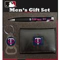 Team Sports America MLB PU Tri-fold Wallet Pen and Keychain Gift Set; Minnesota Twins