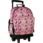Wildkin Horses High Roller Rolling Backpack