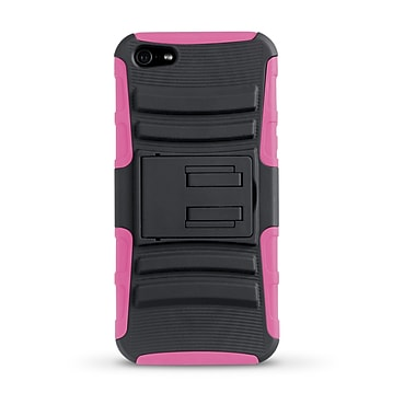 iessentials iPhone 5 Rugged Stand Case; Pink