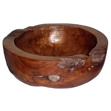 Bamboo54 Teak Large Round Decorative Bowl