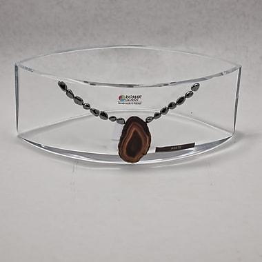 Womar Glass Precious Stone Agate and Oxide Precious Stone Decorative Bowl