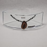 Womar Glass Precious Stone Agate and Oxide Precious Stone Decorative Bowl