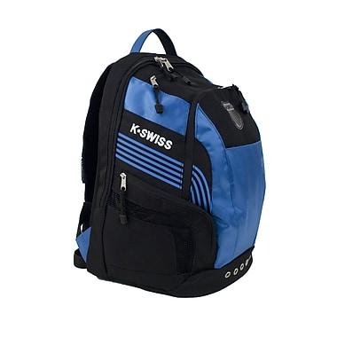 K Swiss Unisex Medium Training Backpack; Black/Brilliant Blue