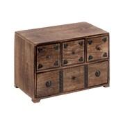 Woodland Imports Wood Chest Box Decorated