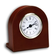 Dacasso 1000 Series Classic Leather Clock w/ Gold Insert in Mocha