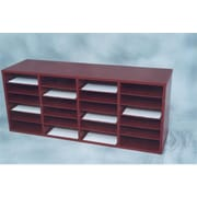 NORSONS INDUSTRIES LLC 24 Compartment Laminate Literature Organizer; Mahogany